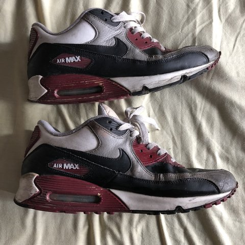 9993b2cf3e @leviwilliams. last year. Manchester, United Kingdom. Nike air max 90 in black  white and maroon.
