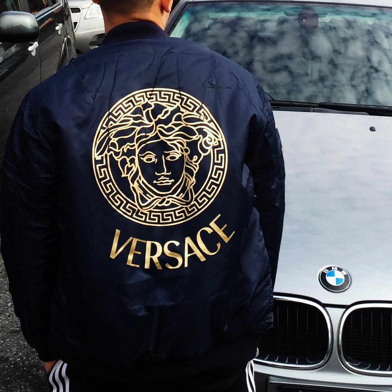 112083d5e1 VerSace Bomber jacket . MEN SIZE SMALL . Brand new. - Depop
