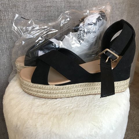 38d8449740a Brand new Just Fab wedge sandals never worn with box and - Depop