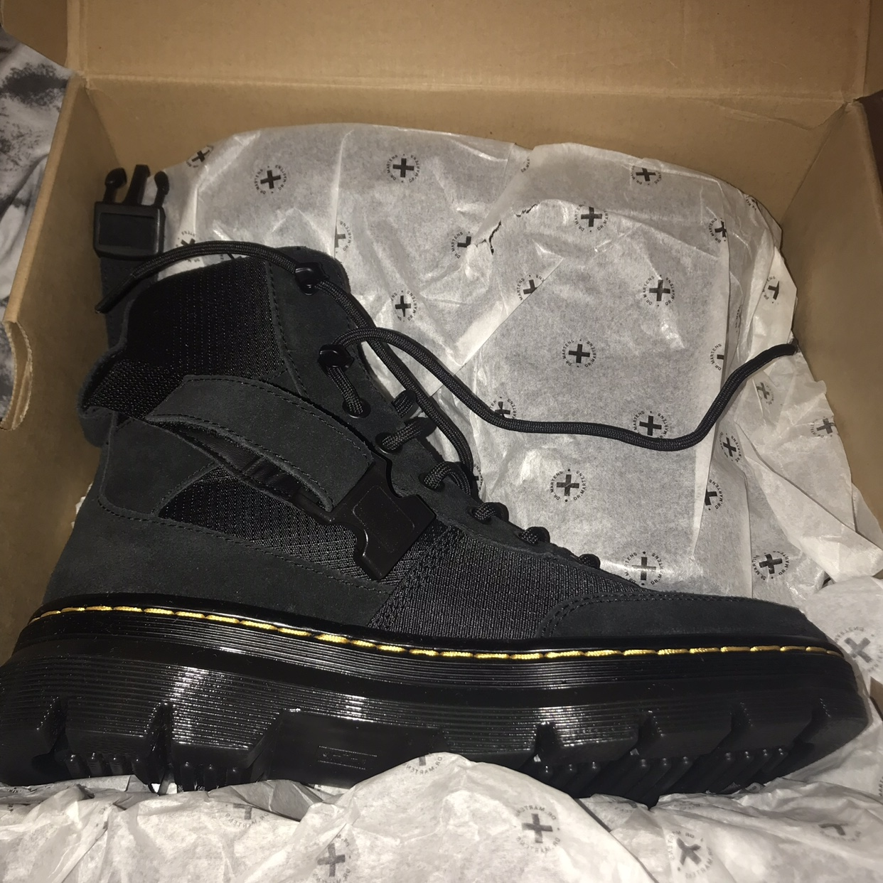 details for store new collection DR MARTINS COMBS TECH LACE UP BOOTS! SIZE 5, LAST ...