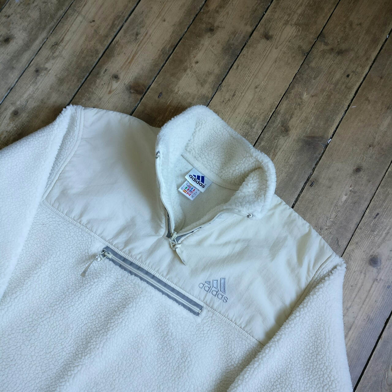 adidas fleece quarter zip