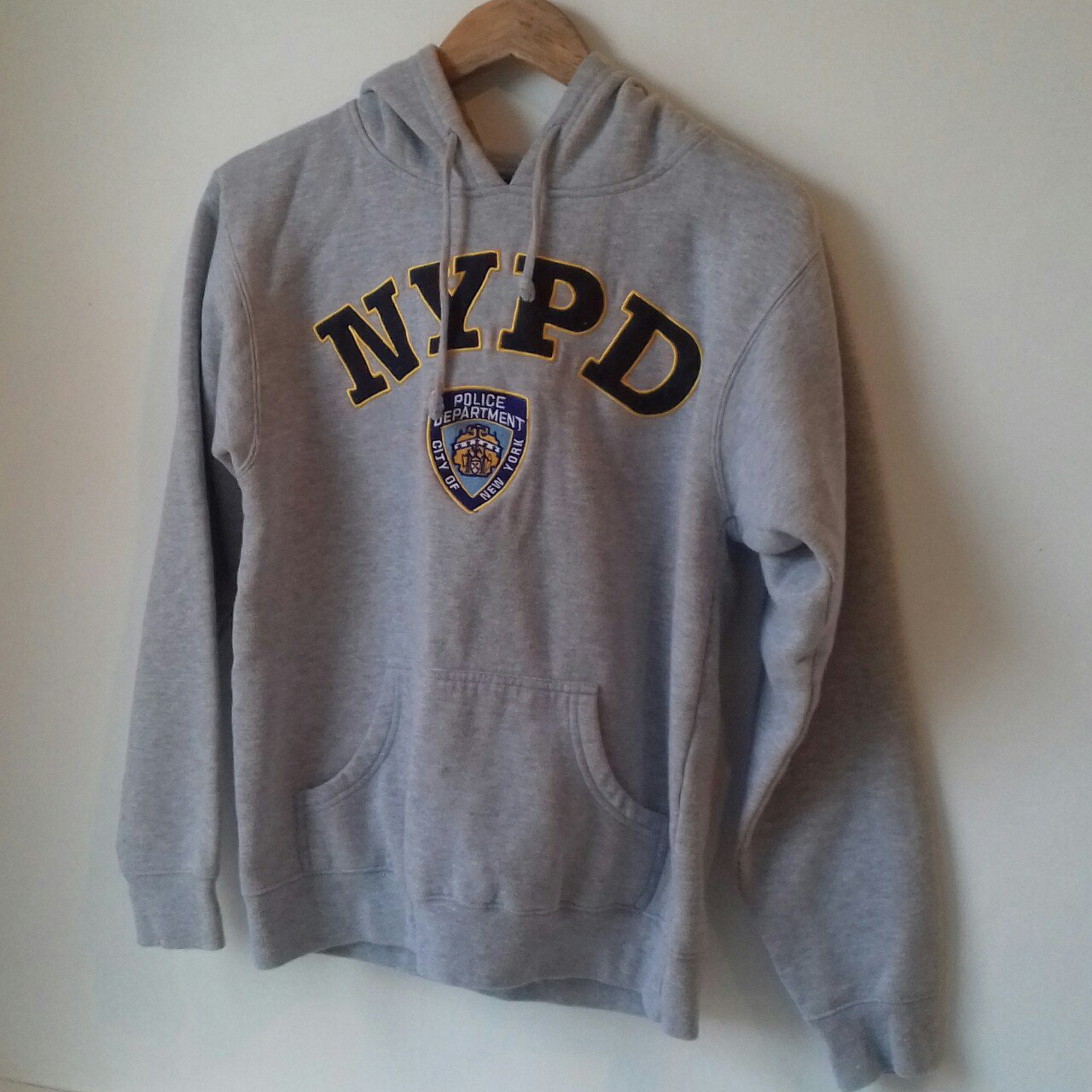 1278f65af @mcilroyliam. last month. United Kingdom. Mens grey retro nypd police  department hoodie