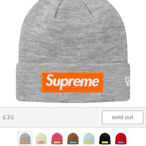 4e6bc3215c1 ... Supreme Box Logo Beanie Grey and orange 🍊 One size fits me sale  retailer 74665 f3f80 ...