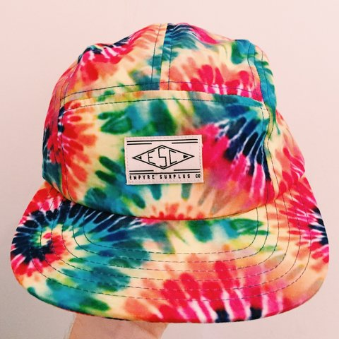5211aac525038 🍄Breezy Tie Dye 5-Panel Hat by Empyre Surplus Co🍄 Features - Depop