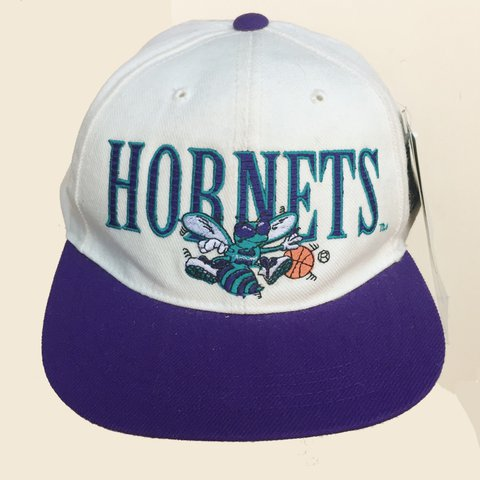 b9a04b8a655 🏀Vintage 90s Deadstock Charlotte Hornets Youth Snapback
