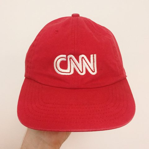 92a0a6805e8ba 📺Vintage 90s CNN Fake News Dad Hat📺 100% Cotton. Features - Depop