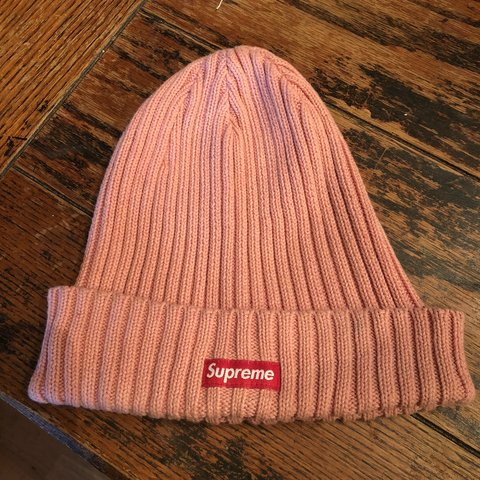 b4112b51 FREE SHIPPING Authentic baby Pink Supreme ribbed beanie ❗ I - Depop