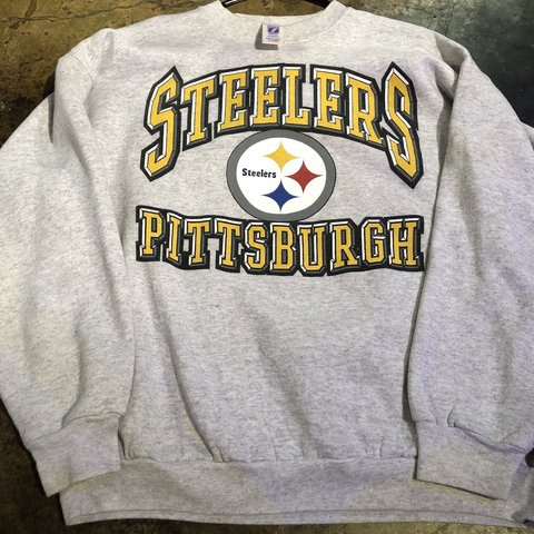 6d28d38c19f @minerva333. 7 months ago. Pharr, United States. Vintage Logo 7 Pittsburgh  Steelers long sleeve sweater shirt 🏈