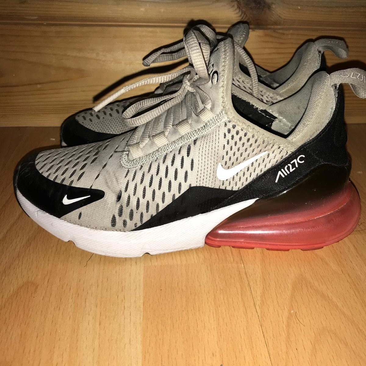 Nike Air Max 270 Beige With Pink Bubble Worn Many Depop