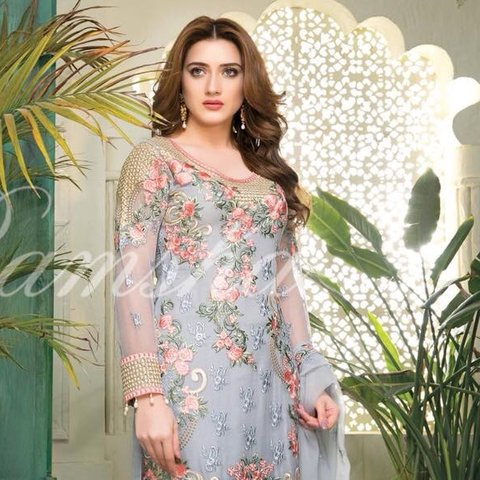 c6bfbc0365 @saimajan49. 11 months ago. Thornton Heath, United Kingdom. Ramsha Chiffon  Collection unstitched Pakistani Embroidered designer 3 piece suit