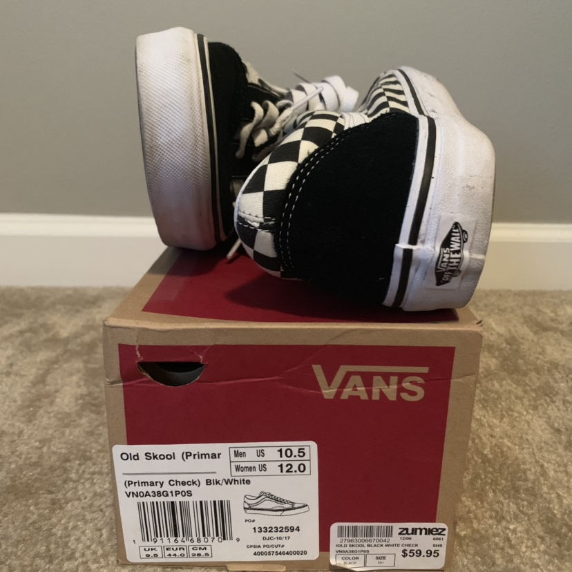 "Vans Old Skool BlackWhite ""Checkerboard"" Condition: Depop"
