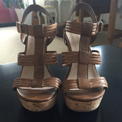 8c95150a29d4 ALDO leather wedges! Worn once! Very comfy perfect for the - Depop