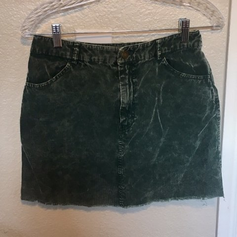 b2c219d0ed Forever 21 distressed green corduroy mini skirt. All four It - Depop