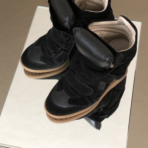 5608d57ba7f8 Isabel Marant  Bazil  high top sneakers in black snake   and - Depop