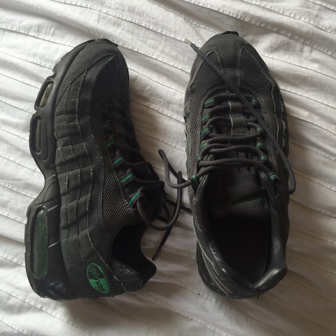 competitive price cc942 9de20 Post office tomorrow! Grey black nike air max 95 s with used - Depop