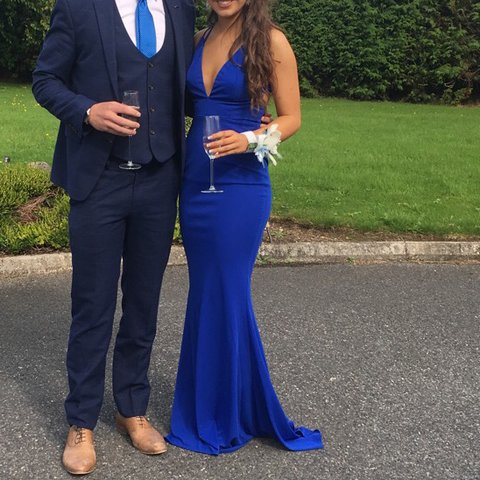 5a6f171777 Royal blue debs dress. Size 8 but would fit between a size 6 - Depop
