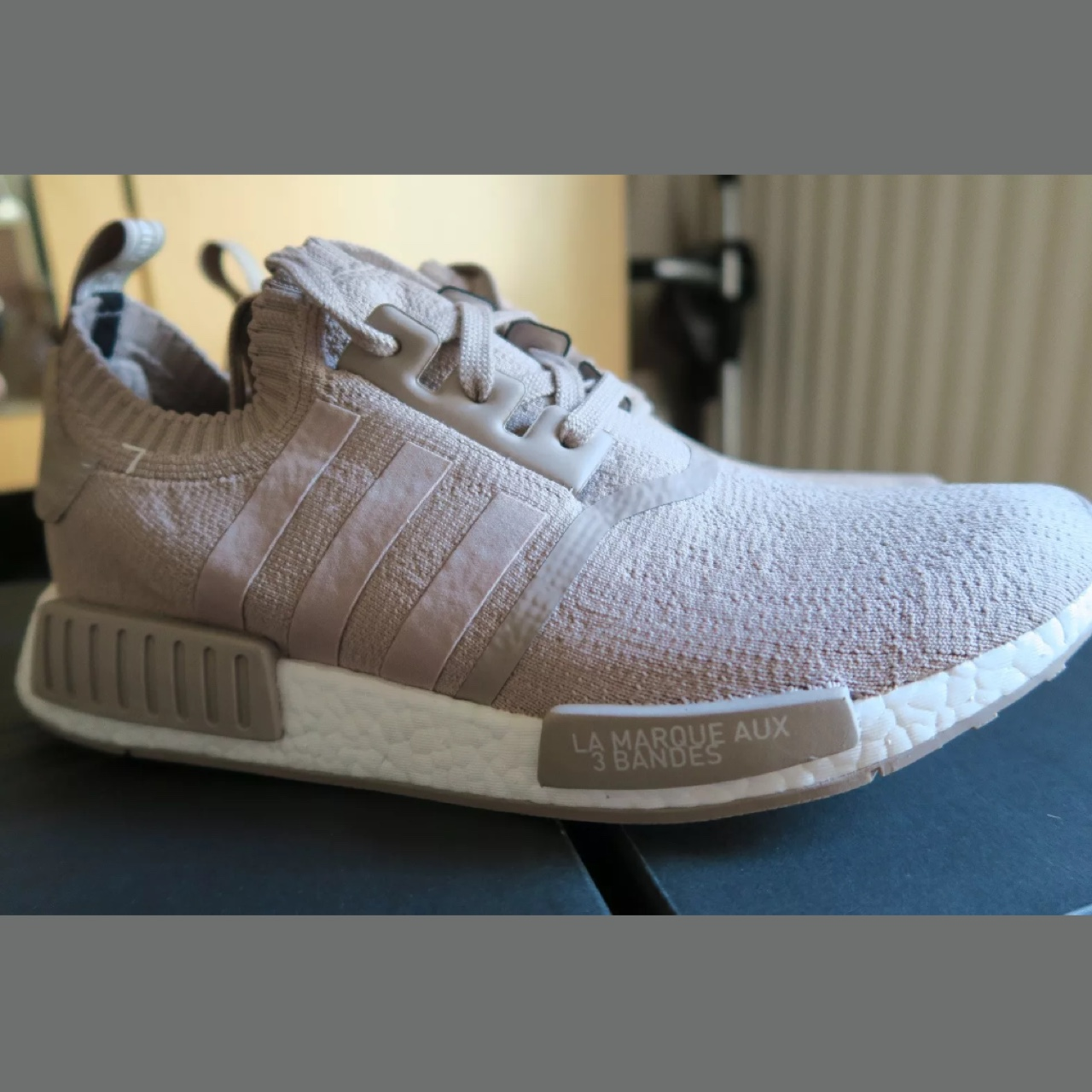 Adidas NMD R1 Primeknit Vapour Grey French Beige
