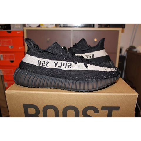 9dcc1d0a4ac Adidas Yeezy Boost 350 V2 - Black Cream off white. Size UK 9 - Depop