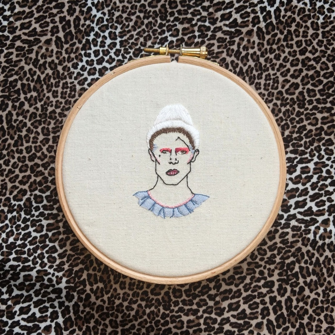 DAVID BOWIE ashes to ashes clown hand embroidery    - Depop