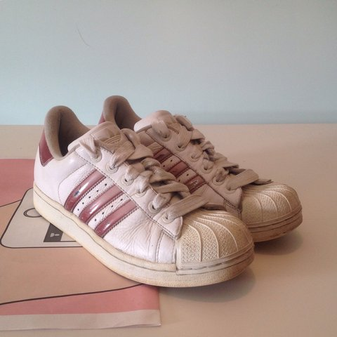 9093ba40aab5 Super cute Adidas superstar trainers in metallic pink and 💕 - Depop