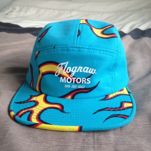 50b2f1938879e3 Golf Wang Flognaw Motors flame hat. Literally worn once so - Depop