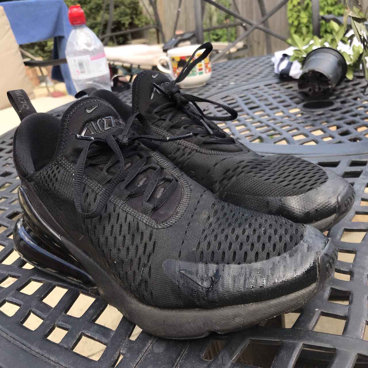 on sale ddb0b f4c61 Nike Air Max 270s Good Condition 8/10 All Black - Depop