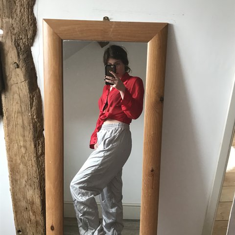 8b0f685a5bfd Stunning Silver Puma Tracksuit bottoms. Zippers on the legs. - Depop