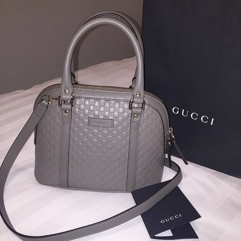 8995c4dd7ce2 Genuine grey Gucci bag, bought in London store 6 months ago - Depop