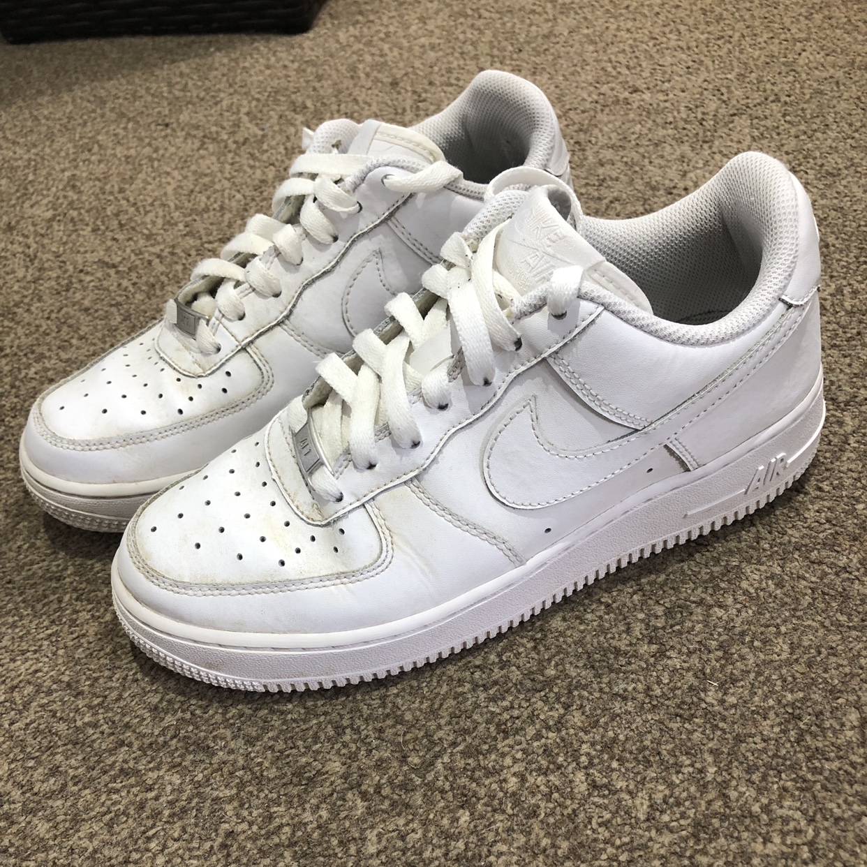 Nike Air Force 1 Low Cut In White Size 5 5uk Depop