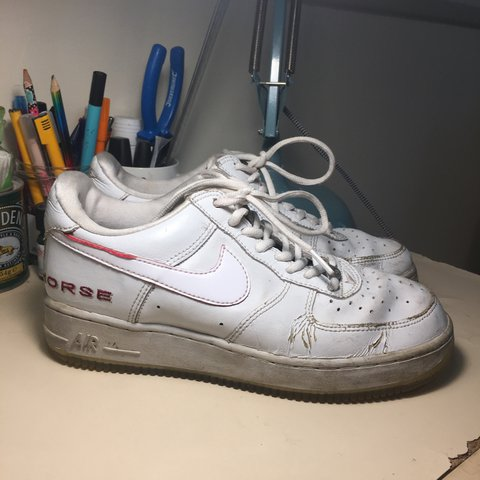 reputable site 9db69 b6677 Rare White Nike Air Force- 0
