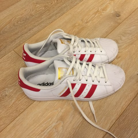 low priced faaae 01fdb Adidas Superstar righe rosse 41- 0