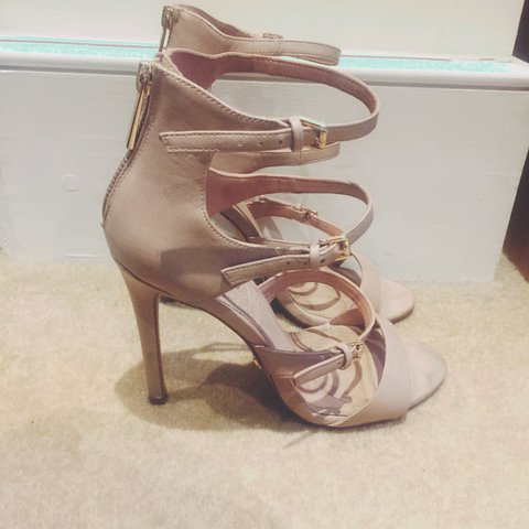 209079b9d970 Topshop nude strappy heels. Size 6uk. A few scuffs but in as - Depop