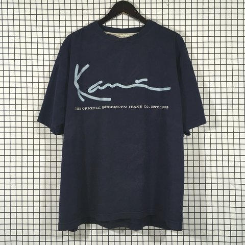 76c68ed78f5 Karl Kani Embroidered Logo T Shirt Size XL V good condition; - Depop