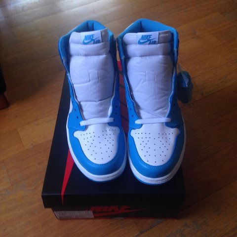cddf6311c70 @luca3p. 4 years ago. Roma, Italia. Nike Air Jordan 1 Retro High OG UNC  size US ...