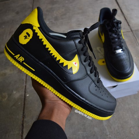 best sneakers 92135 78424 Black and yellow BAPE AIR- 0