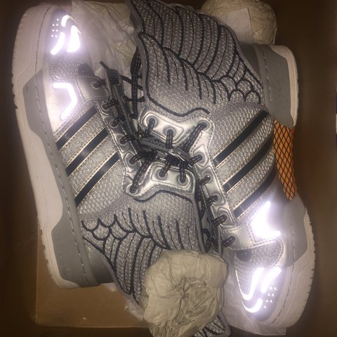 6e833b4920a0 adidas Jeremy Scott Wings 2.0 Worn twice! Size US 6.5 39 to - Depop