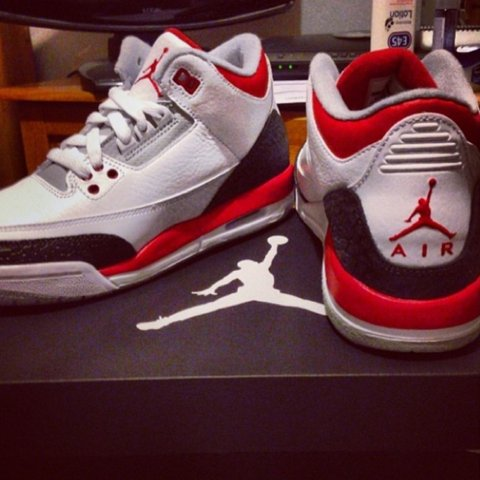 san francisco ade46 ed1eb  reeejay. 3 years ago. Bracknell, United Kingdom. Nike air jordan retro 3  white    fire red ...