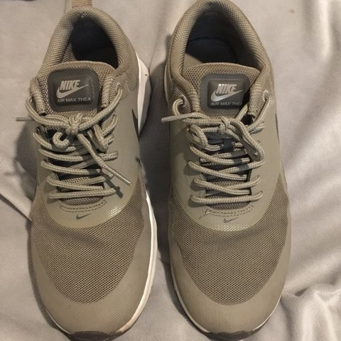 fe516a44cb120 @demiilea. 2 months ago. Brixham, United Kingdom. Nike Air Max Thea, Cream/ Grey/Green ...