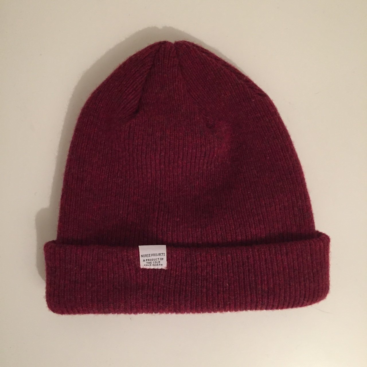 Norse Projects Burgundy Wool Beanie. Condition 10 10. New - Depop ca97dd5ae9a