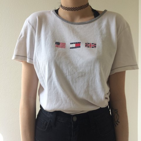 13ccd25a7 @vintagecactus. 2 years ago. Edmonds, United States. LOWERED PRICE🌸RARE  TOMMY HILFIGER 90s VINTAGE TEE 🌸