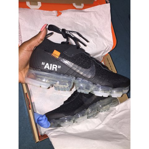40a94cbee86 Off White x Nike Air Vapormax Flyknit size UK 6   US 6.5   - - Depop