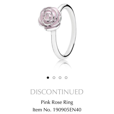 30a25f7b1 @mizzkhadley. 2 years ago. Lincoln, United Kingdom. DISCONTINUED Pandora  Pink Rose Ring ...