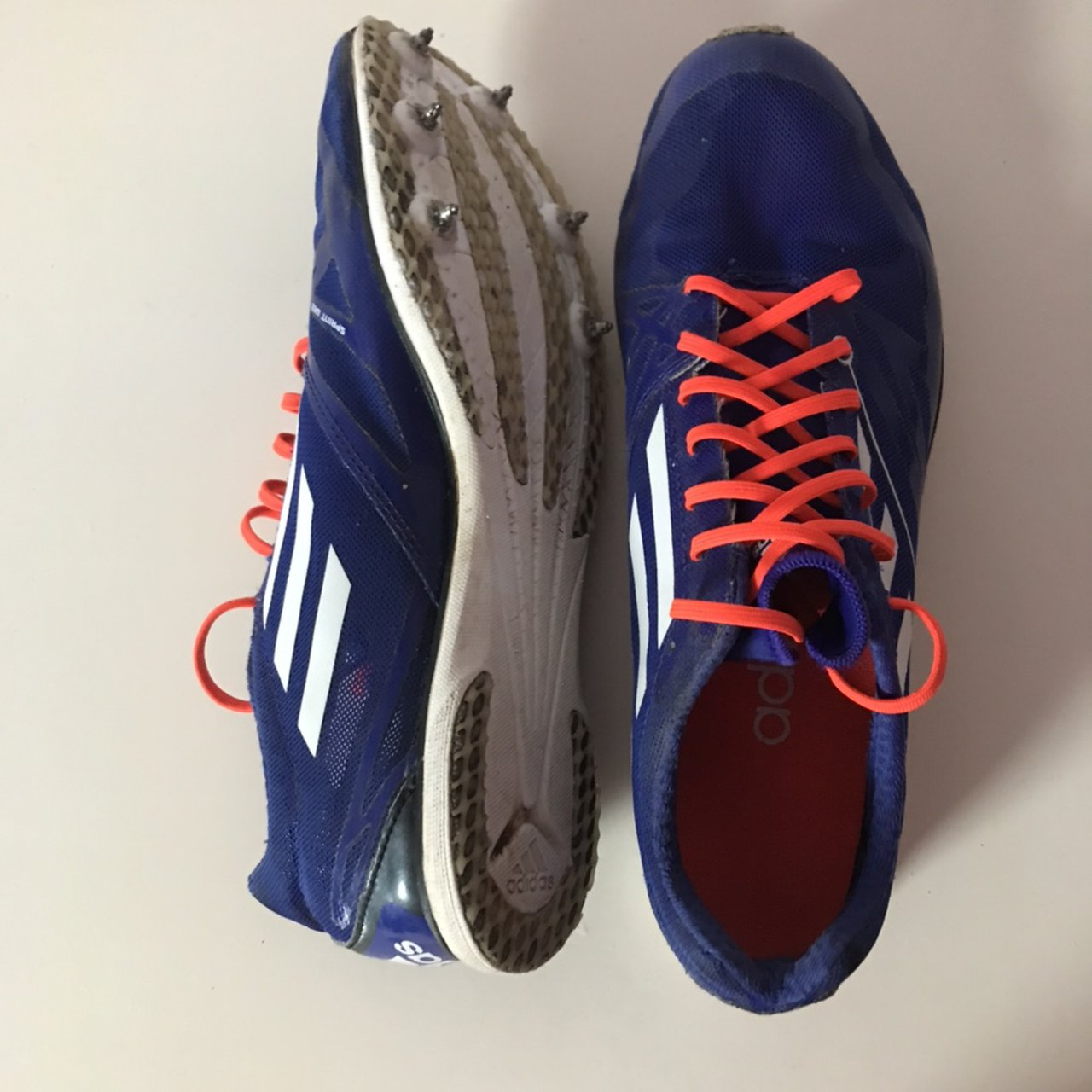 Adidas running spikes size 7. Comes