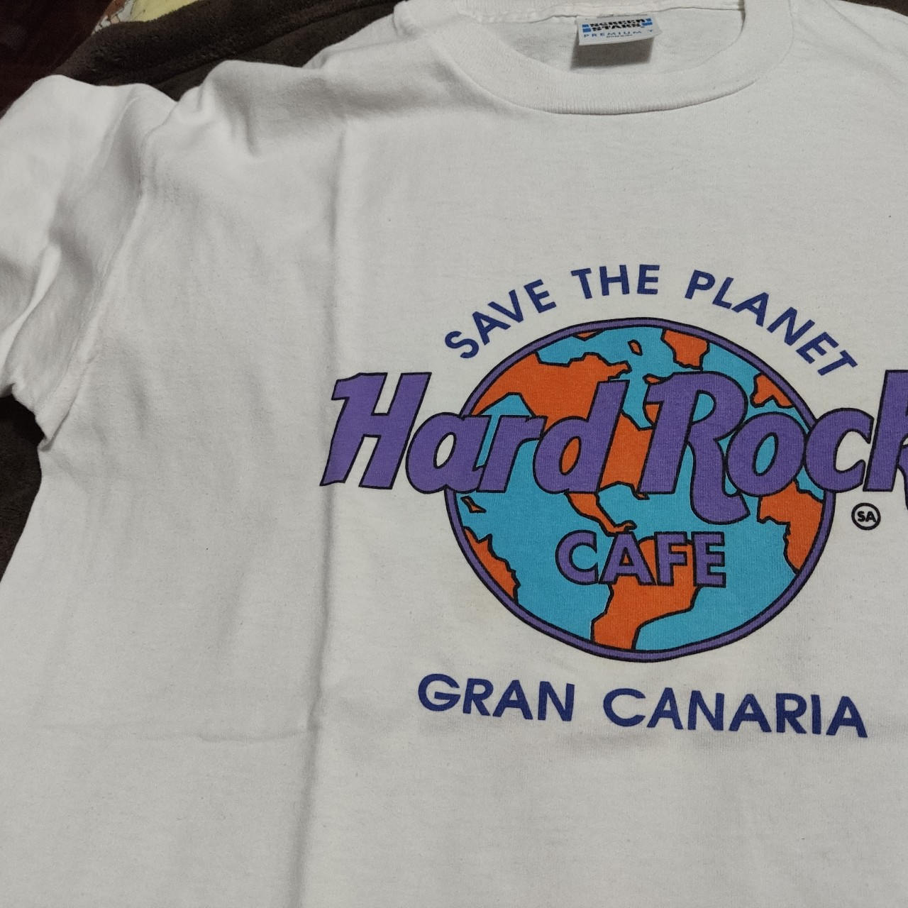 T Shirt Vintage Do Hard Rock Café De Gran Canaria Depop