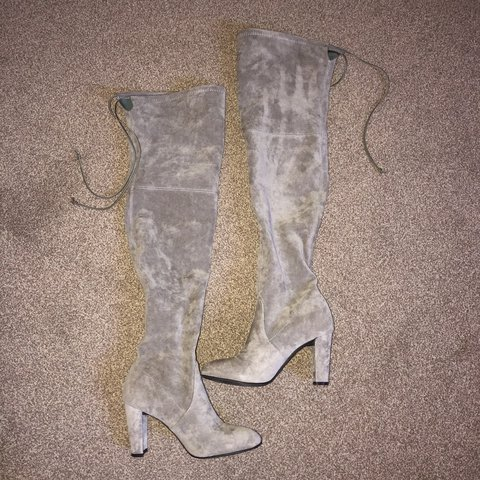 be03593ecb58 Stuart Weitzman for Russell   Bromley over knee suede grey 5 - Depop