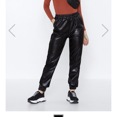 af616c9ce Nasty gal faux leather pants size 6 open to offers - Depop