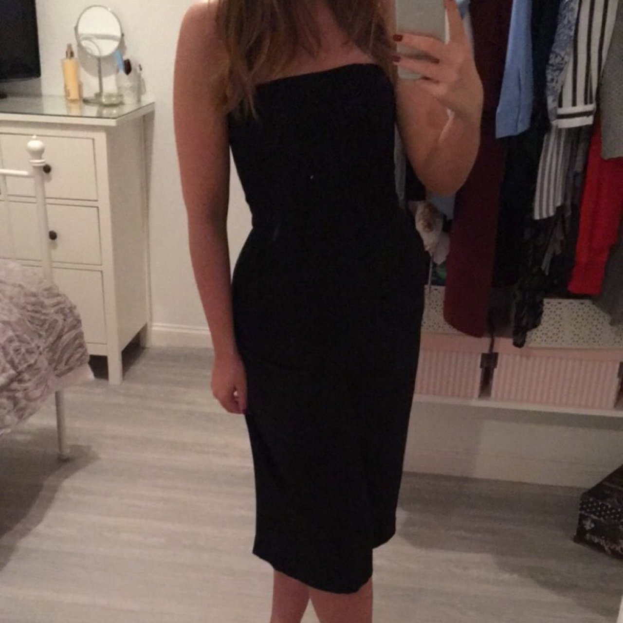 99040fa9dfa Topshop Culotte jumpsuit - size 10. Only worn once and in to - Depop