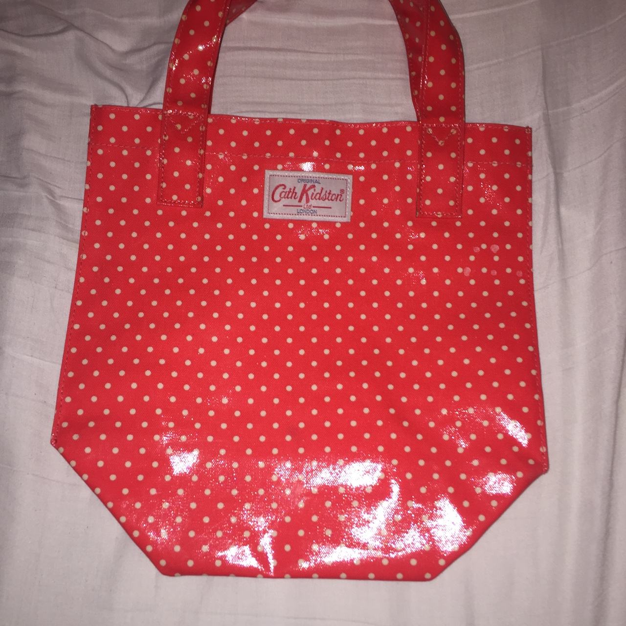 5ab5109e2 Cath Kidston red polka dotted bag bought in Canada only ever - Depop