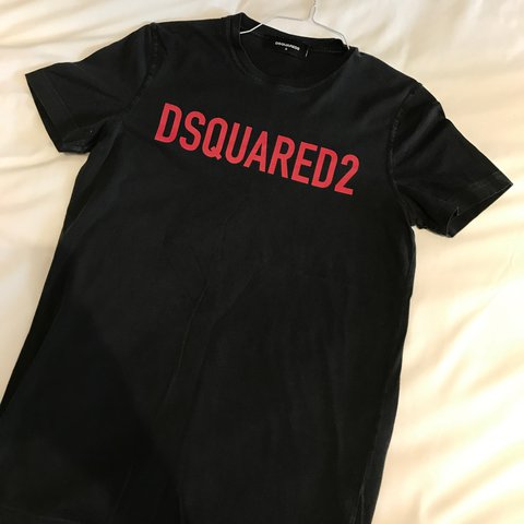 In Size Shirt Good Worn Small Dsquared On Depop T Mens Blackred SBwg1T