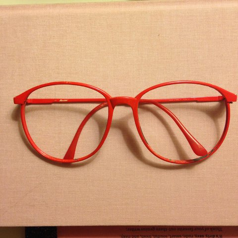83ca26c115 80s Candy Apple Red Glasses Frames • Lens-less • Can put in - Depop